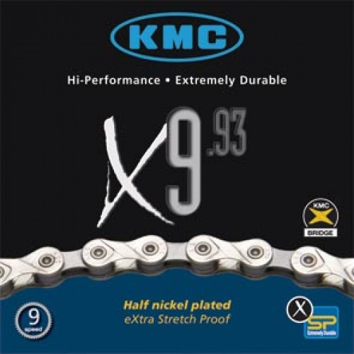 Kmc Ketting X9.93 9 Speed 116l. Zilver/grijs