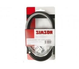 Simson Trommelremkabelset Simson/batavus V/a Bat. Inhaaknippel+inbus, Gegalv,zwart
