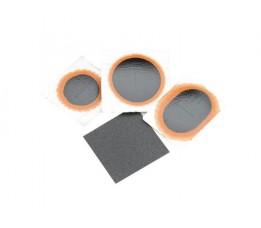 Simson Binnenbandpleisters  Assorti 22/25/33mm / Ovaal + Schuurpapier