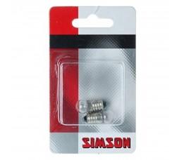 Simson Fietslampjes  Achter Per 2 Stuks Verpakt
