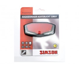 "Simson Bagagedrager Achterlicht  ""lineo 2 Led's Light Line, Xb, On/off,+batt"