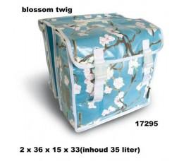 Basil Tas Basil Blossom Twig Dubbel Blue 17295 35 Ltr