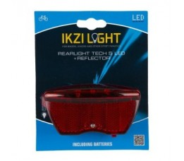 Ikzi Achterlicht Ikzi Met 5 Led Reflector + Batterij Aan/uit 1440500