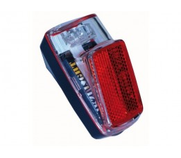 Ikzi Achterlicht Ikzi Met 1 Led Kaart Gekeurd Reflector + Batterij Aan/uit Spatbordbevestiging