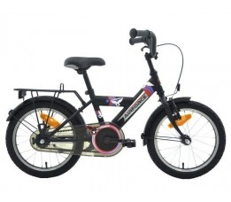"Bikefun Bike Fun Airforce-2 16"" Rn Matzwart/rood"