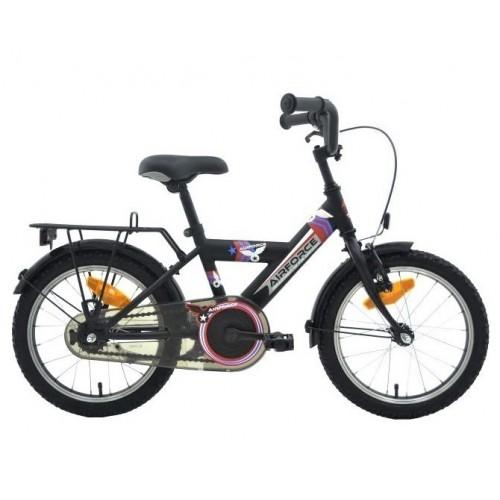 "Bikefun Bike Fun Airforce-2 16"" Rn Matzwart/rood"